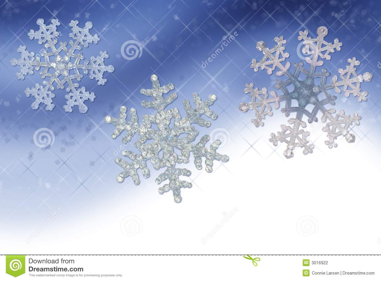 blue snowflake border stock photography