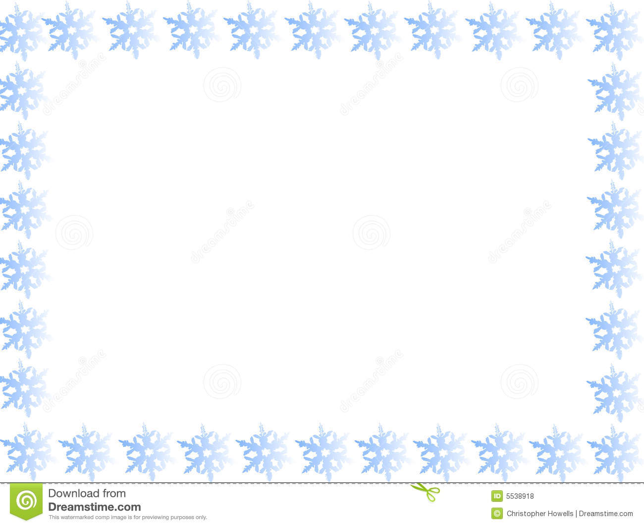 Blue Snowflake Border Royalty Free Stock Photos - Image: 5538918