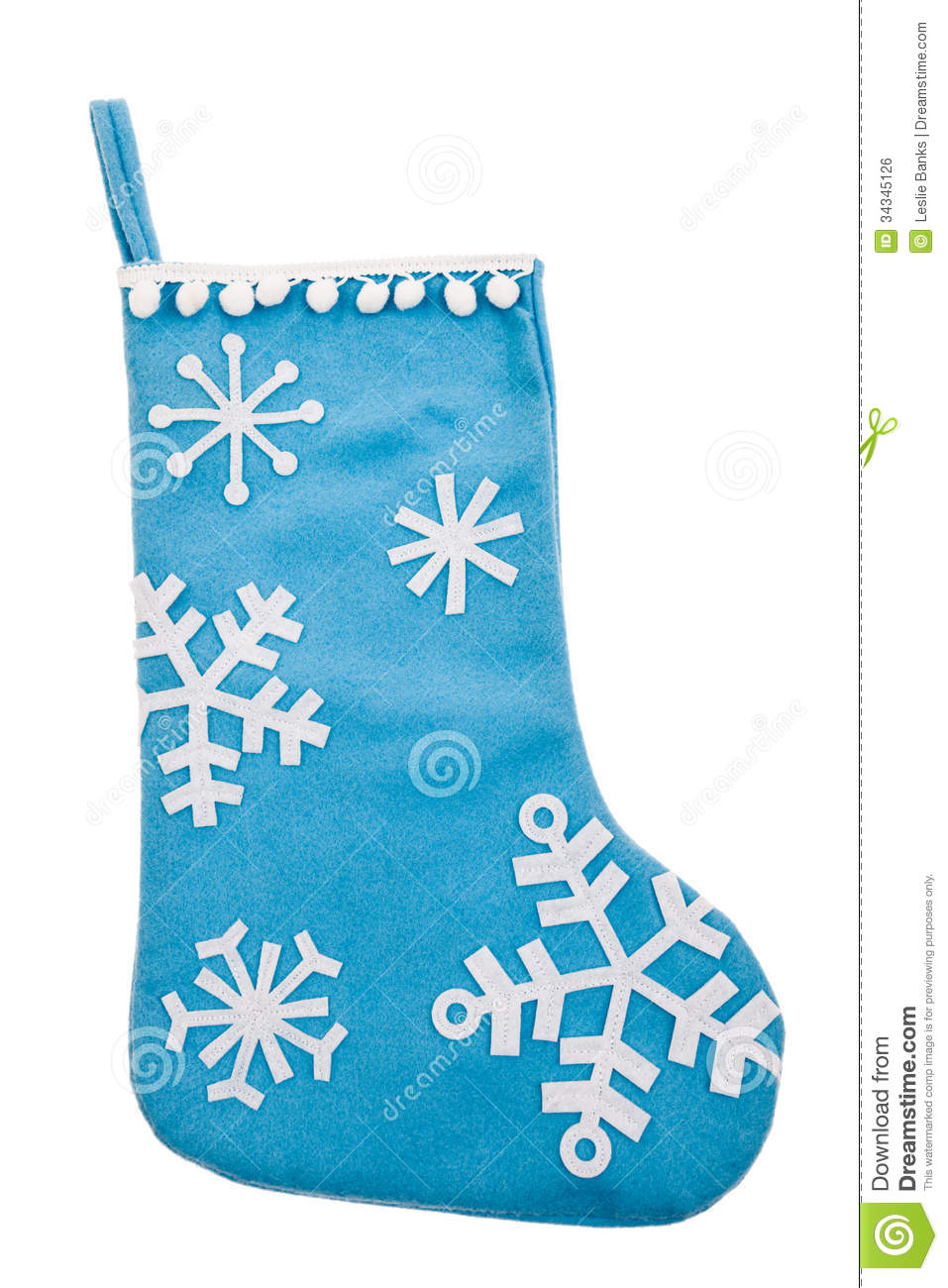 Blue Snowflake Christmas Stocking Royalty Free Stock Image - Image ...