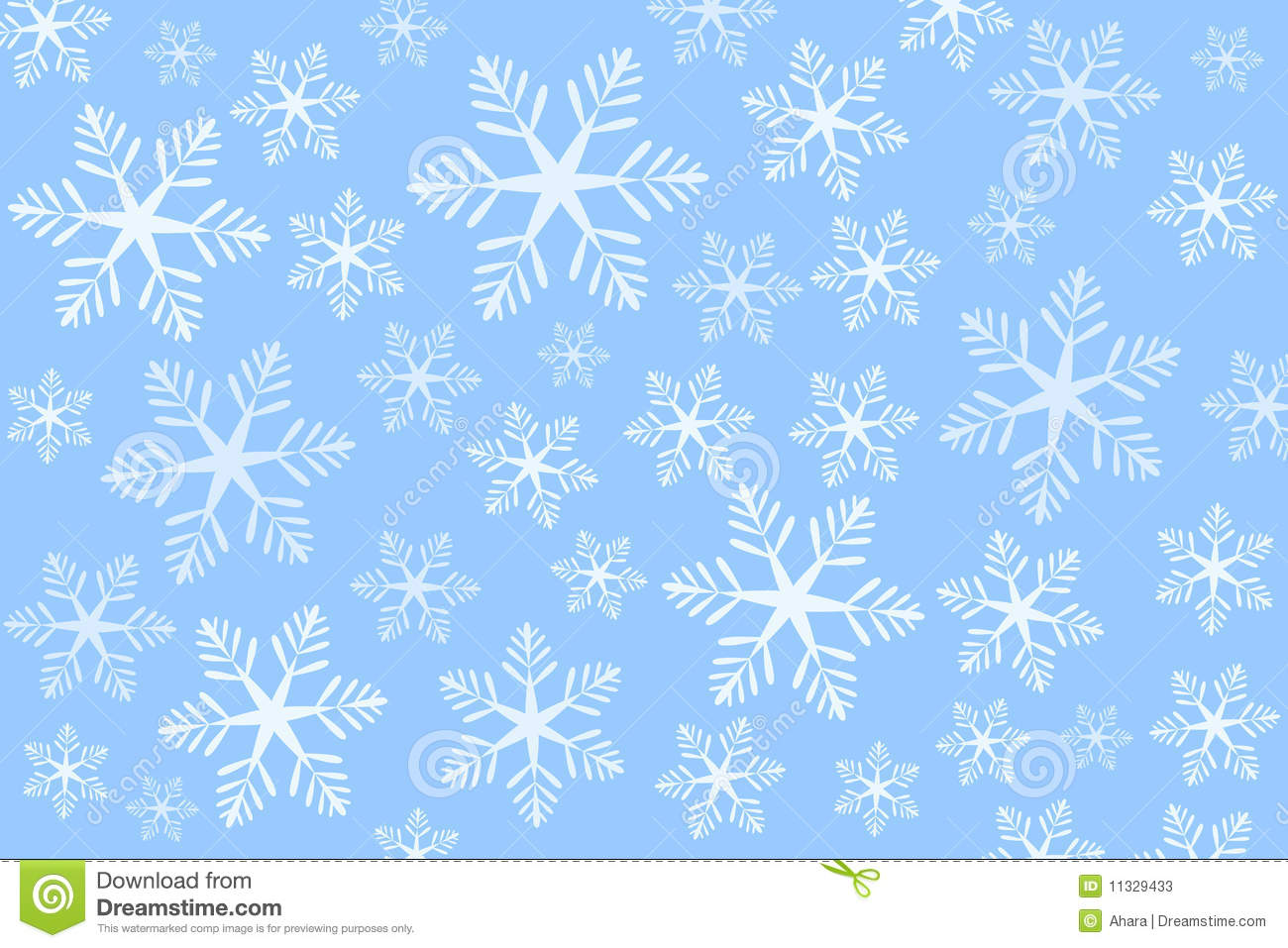 Blue Snowflakes Background (vector) Stock Photos - Image: 11329433