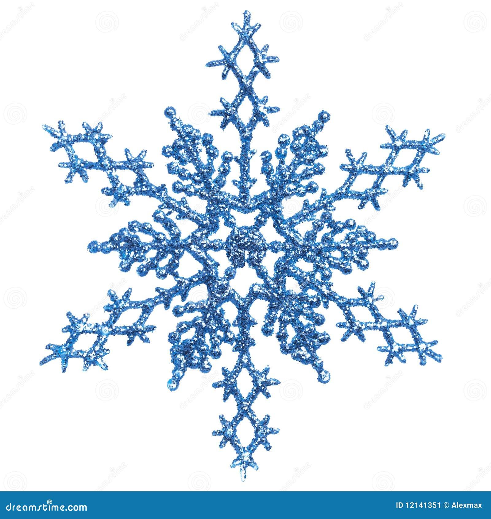 Blue Snowlfake Christmas Ornament
