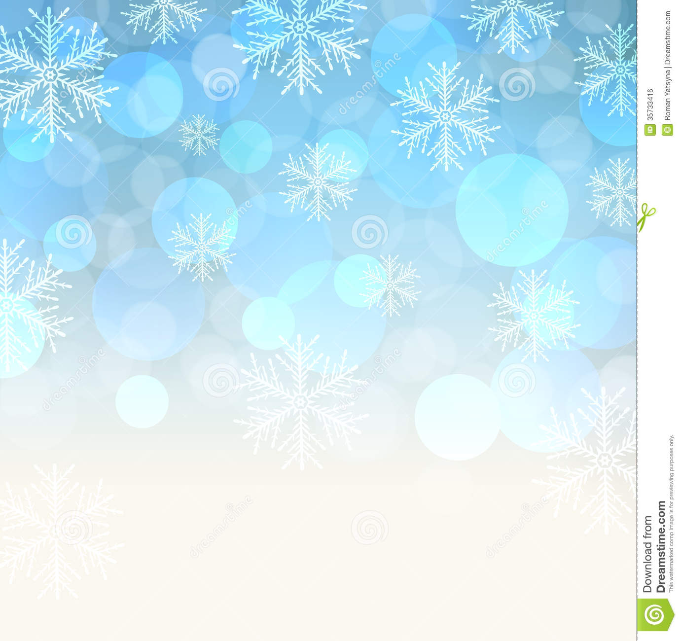 Blue Snowy Background. Royalty Free Stock Image - Image: 35733416
