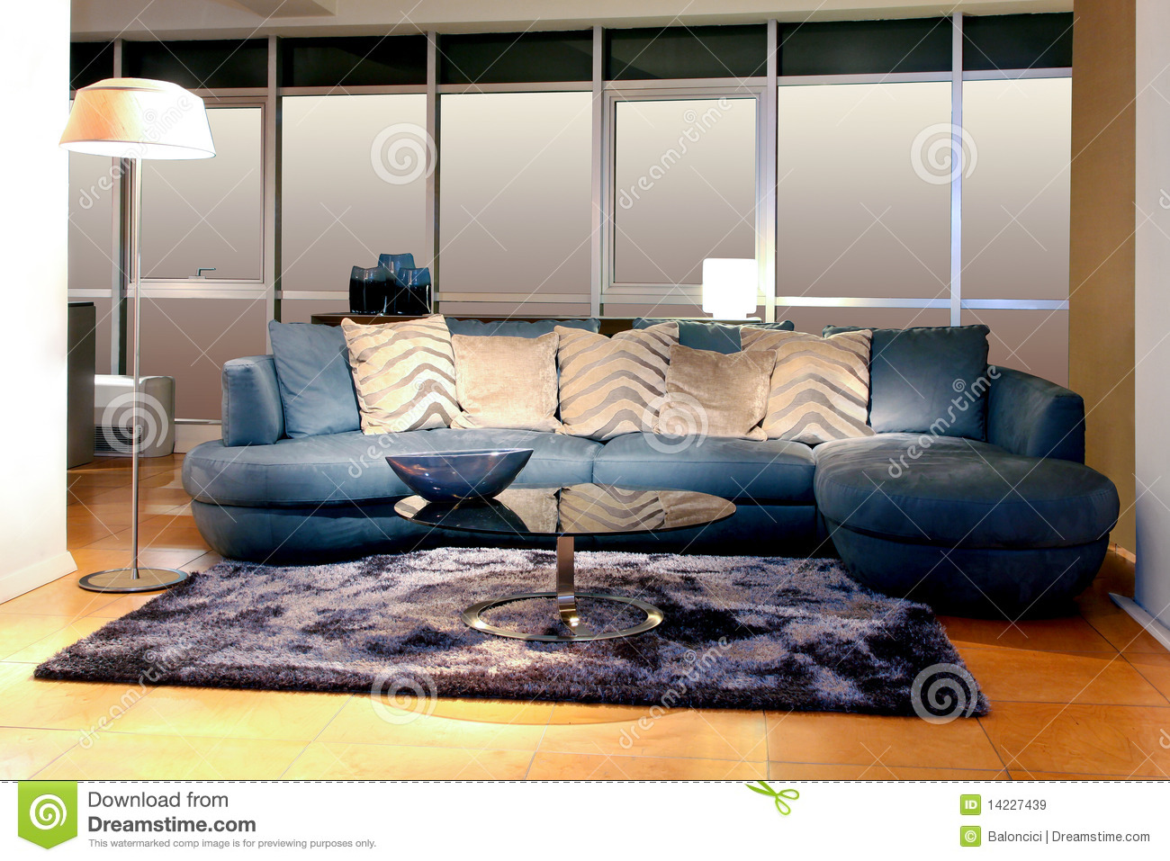 Blauwe Design Bank.Blue Sofa Stock Image Image Of Couch Cushions Furniture 14227439