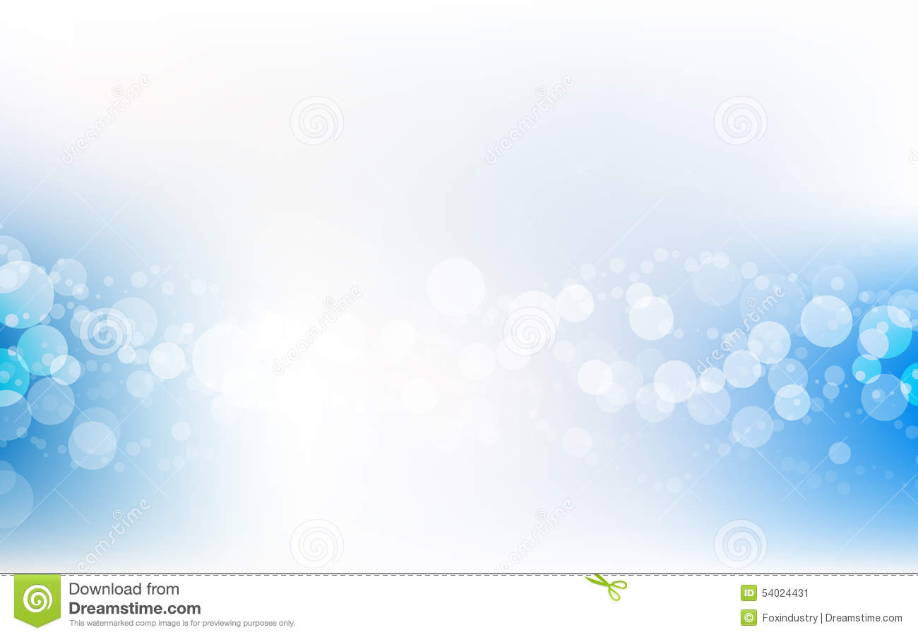 Blue Soft Pastel Bokeh Pale White Abstract Background