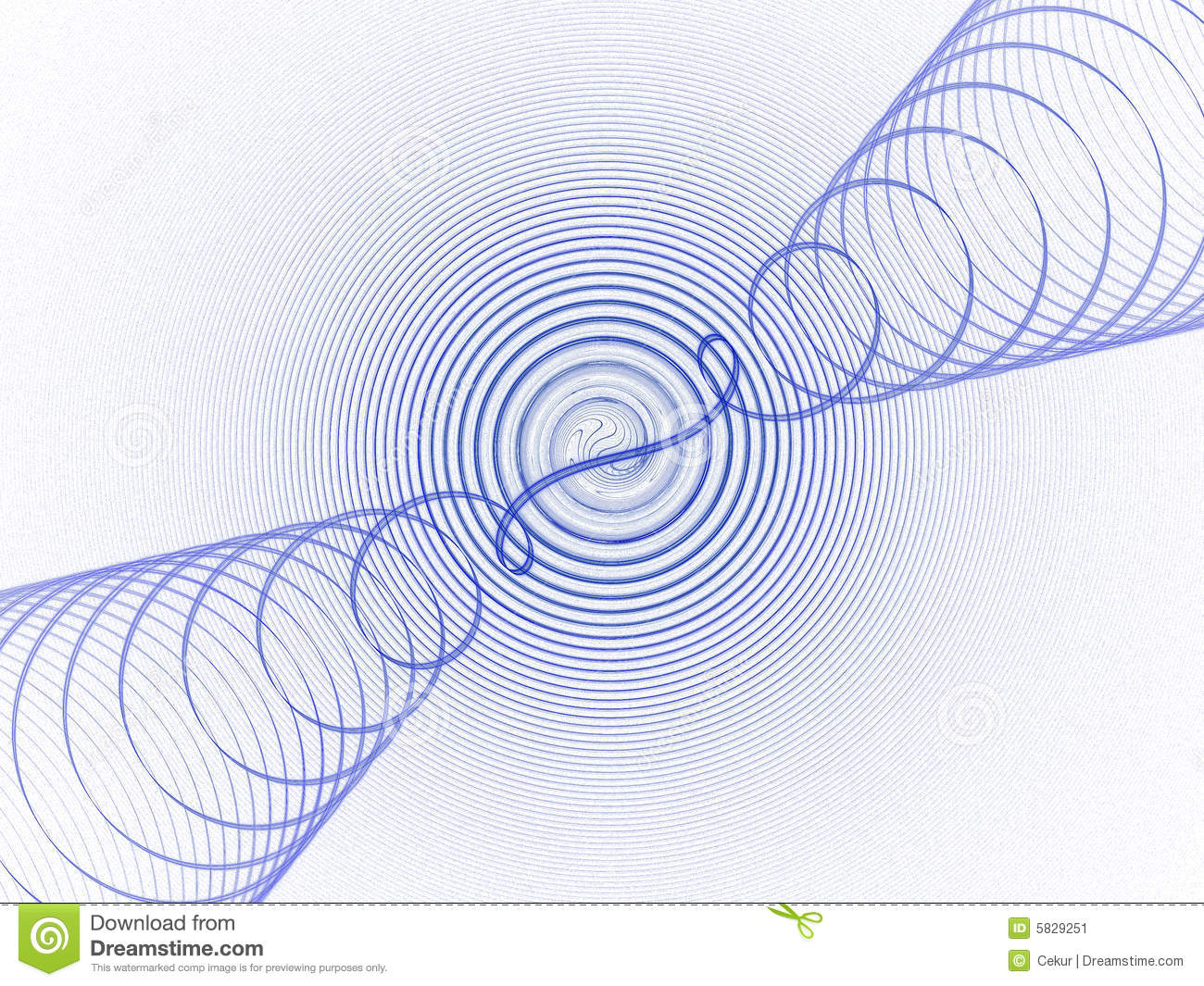 Blue Sound Waves Stock Image - Image: 5829251