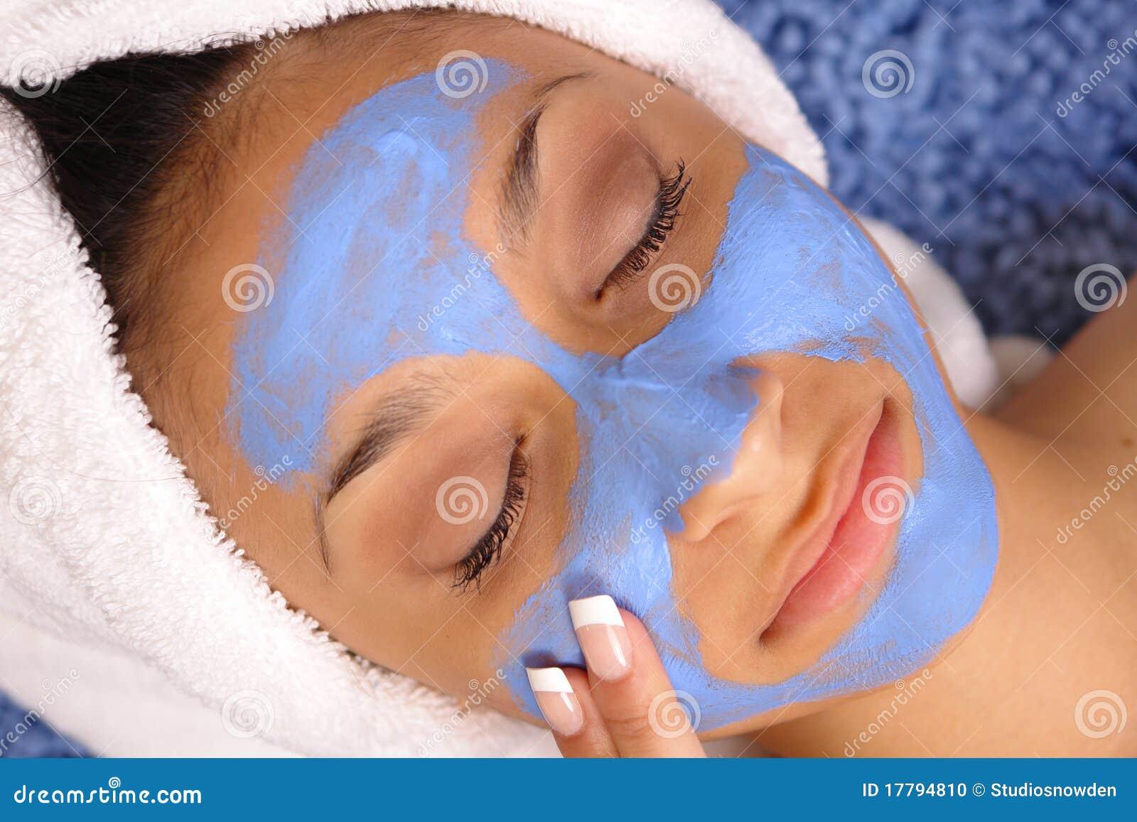 Blue spa facial