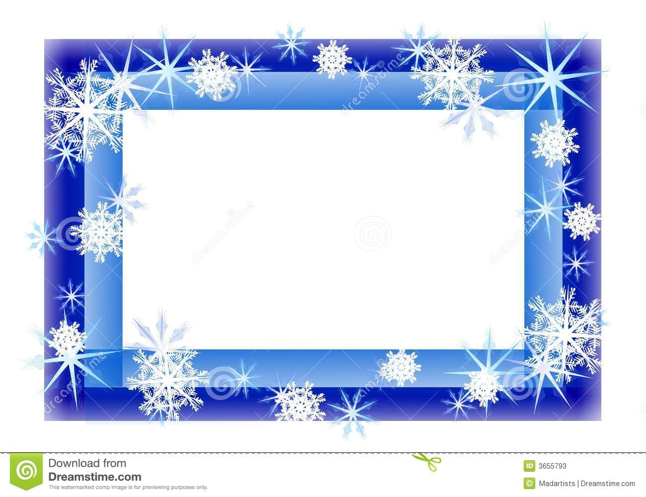 An illustration featuring a blue border decoratied with light blue ...