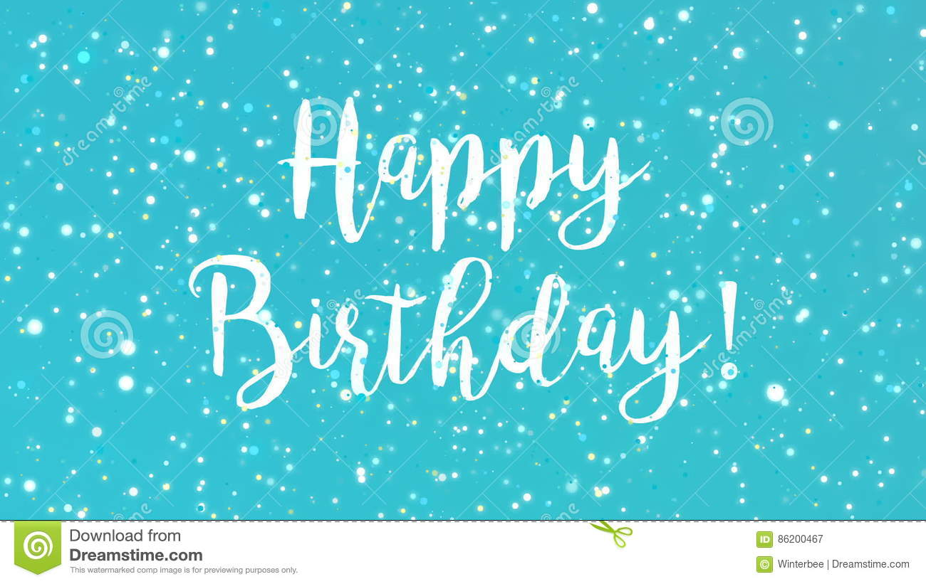 Blue Sparkly Happy Birthday Greeting Card Stock Video