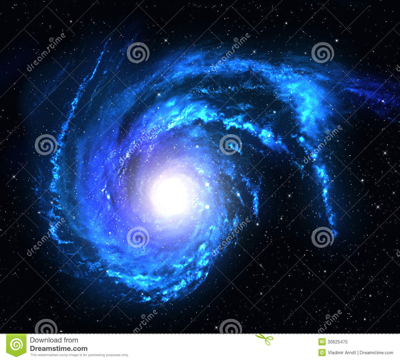 blue spiral galaxy abstract - photo #26