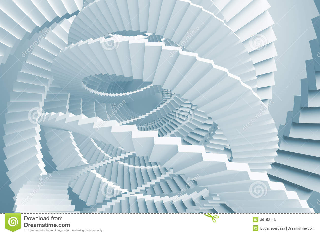 Blue Spiral Stairs Maze Royalty Free Stock Image Image