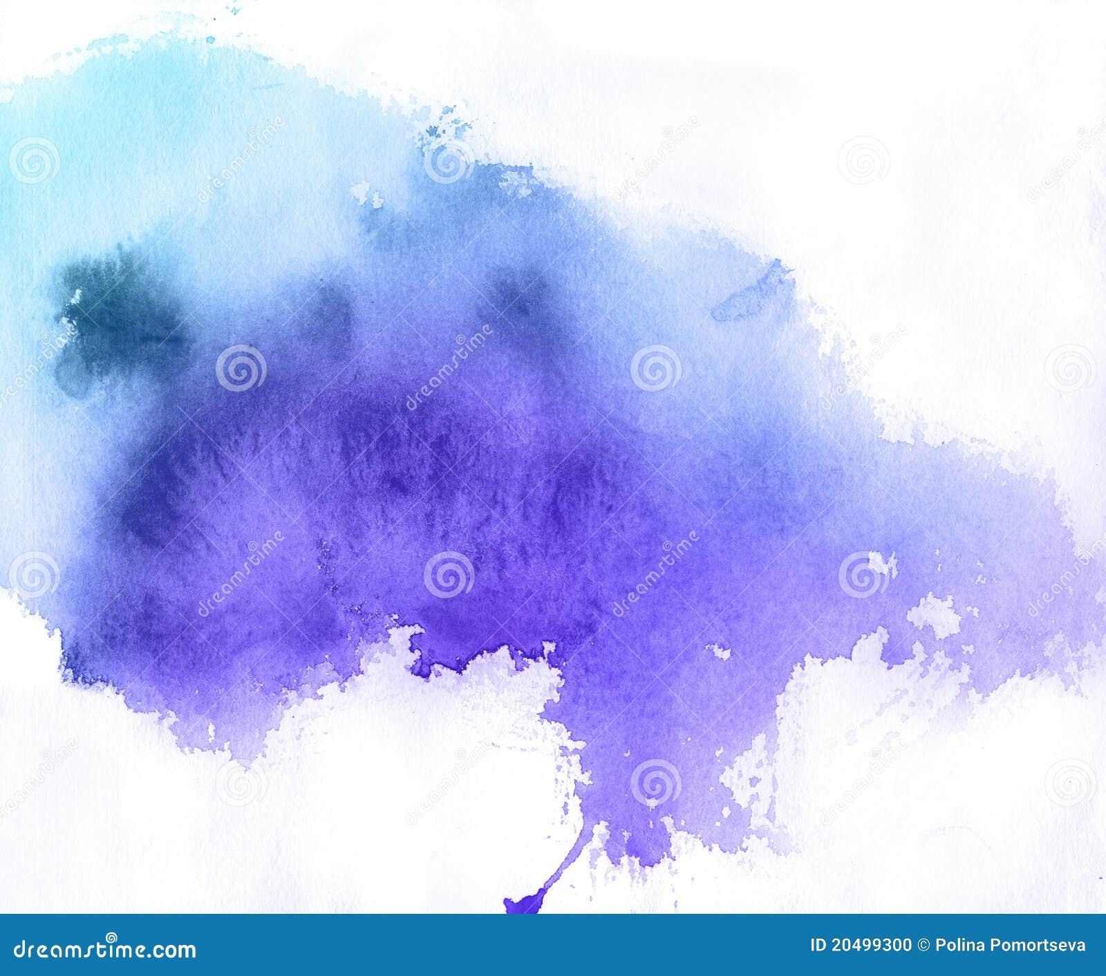 Blue spot, watercolor background