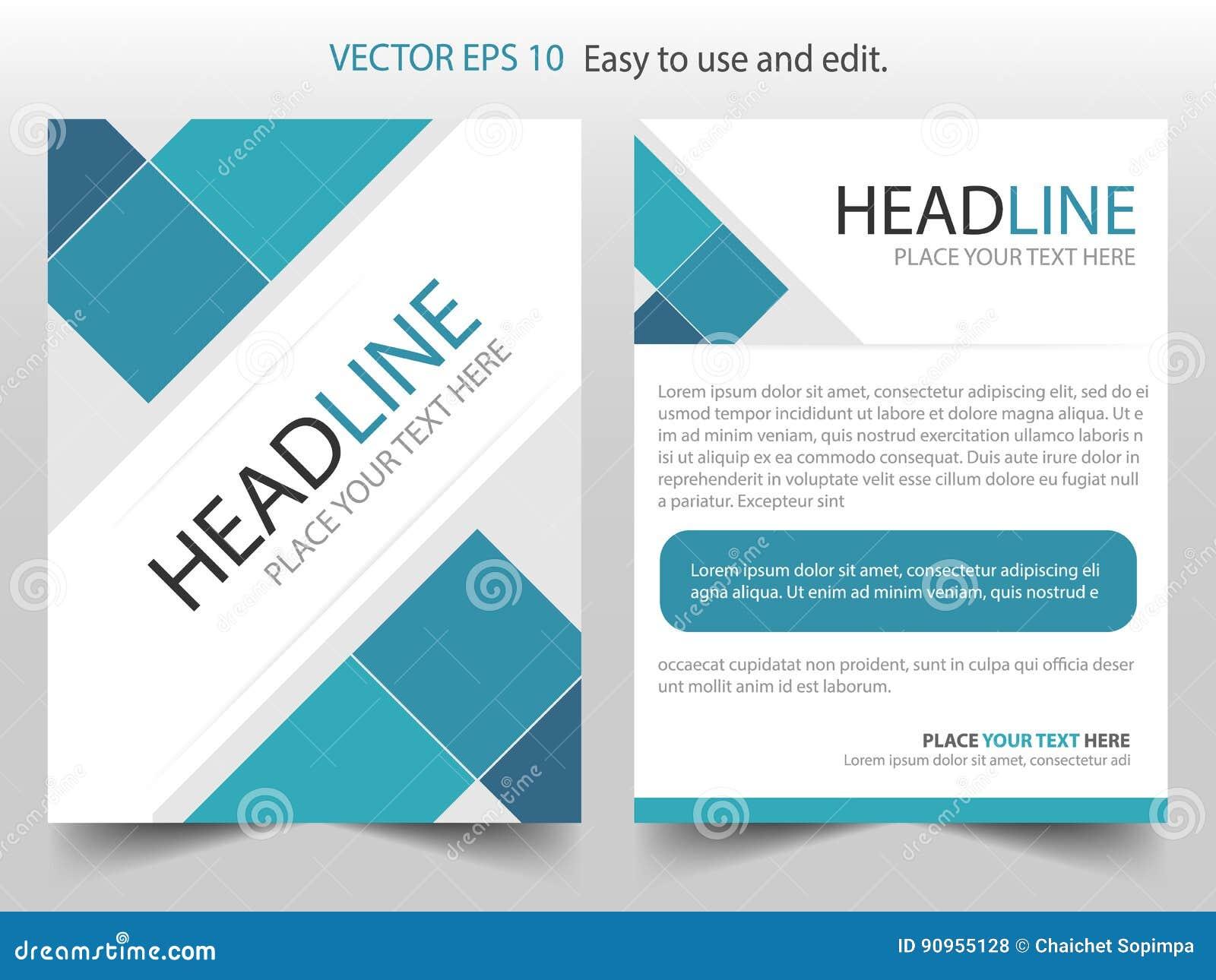 Blue Square Corporate Brochure Design Template Vector Business