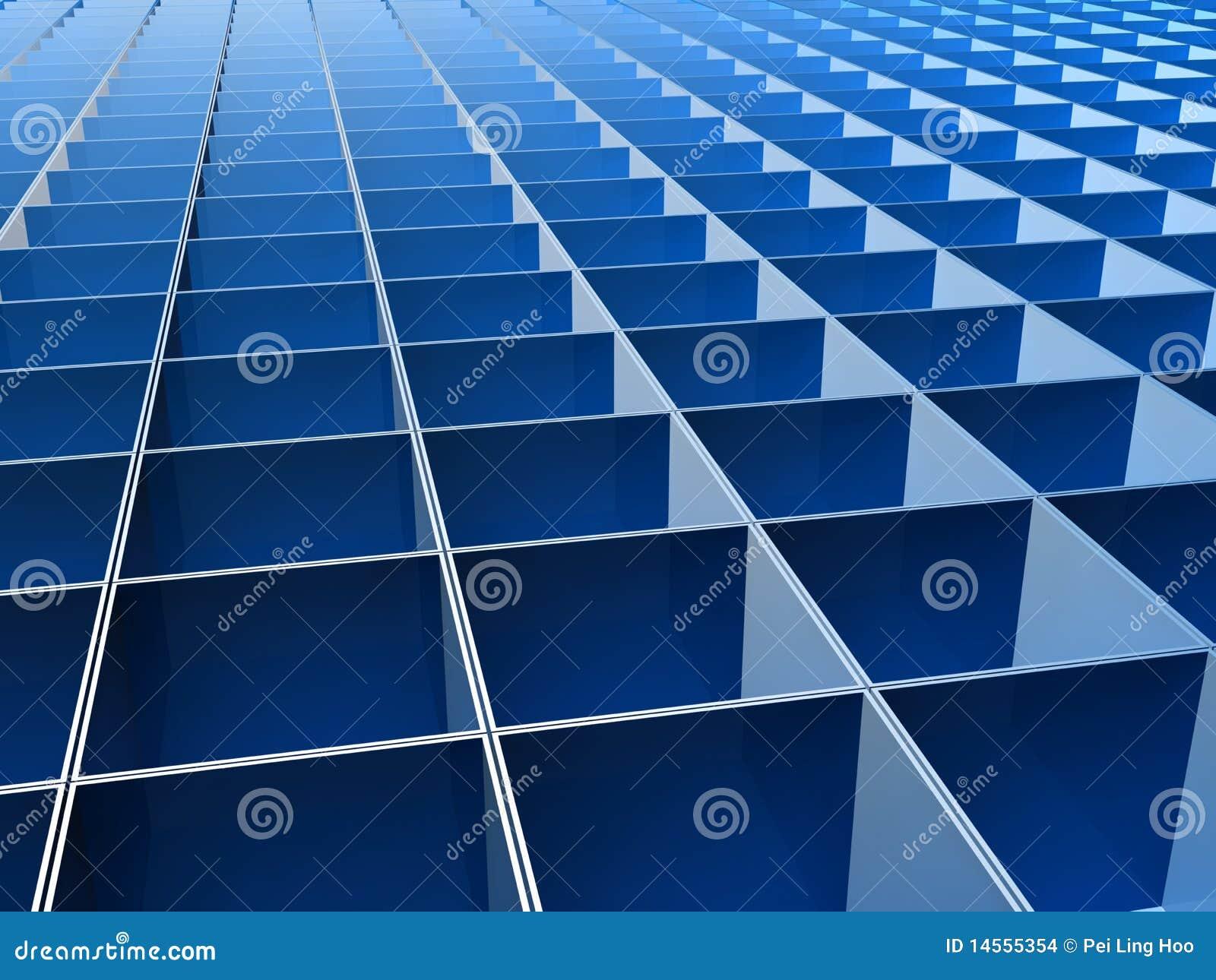 Blue square pattern background - photo#13