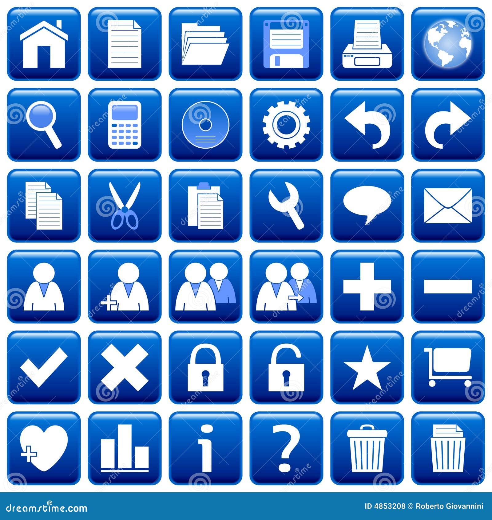 Blue Square Web Buttons [1]