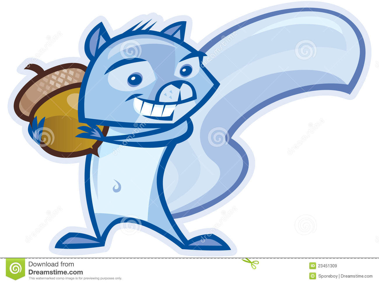 Blue Squirrel Royalty Free Stock Images - Image: 23451309