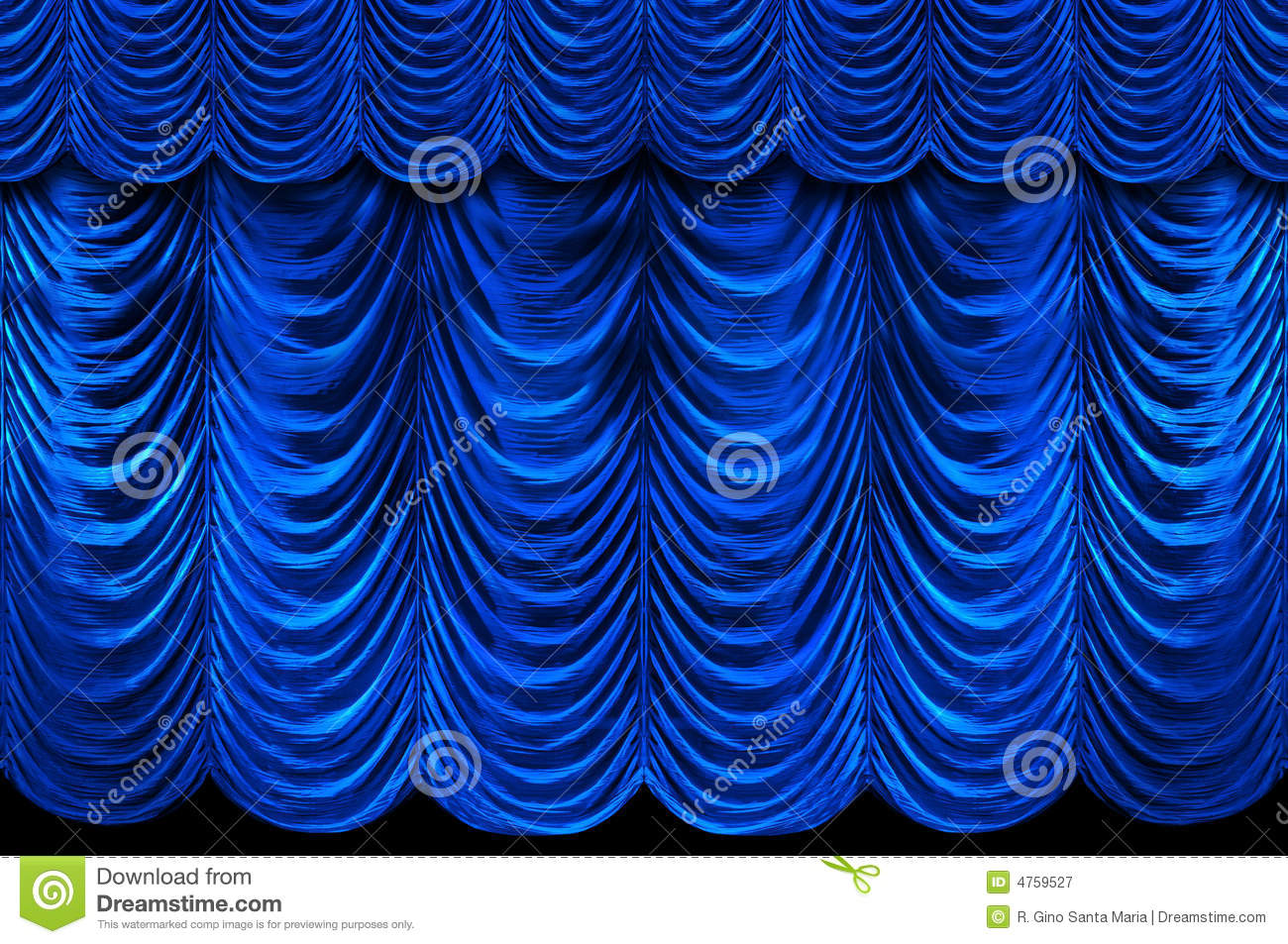 Blue Stage Curtains Royalty Free Stock Photography - Image ...