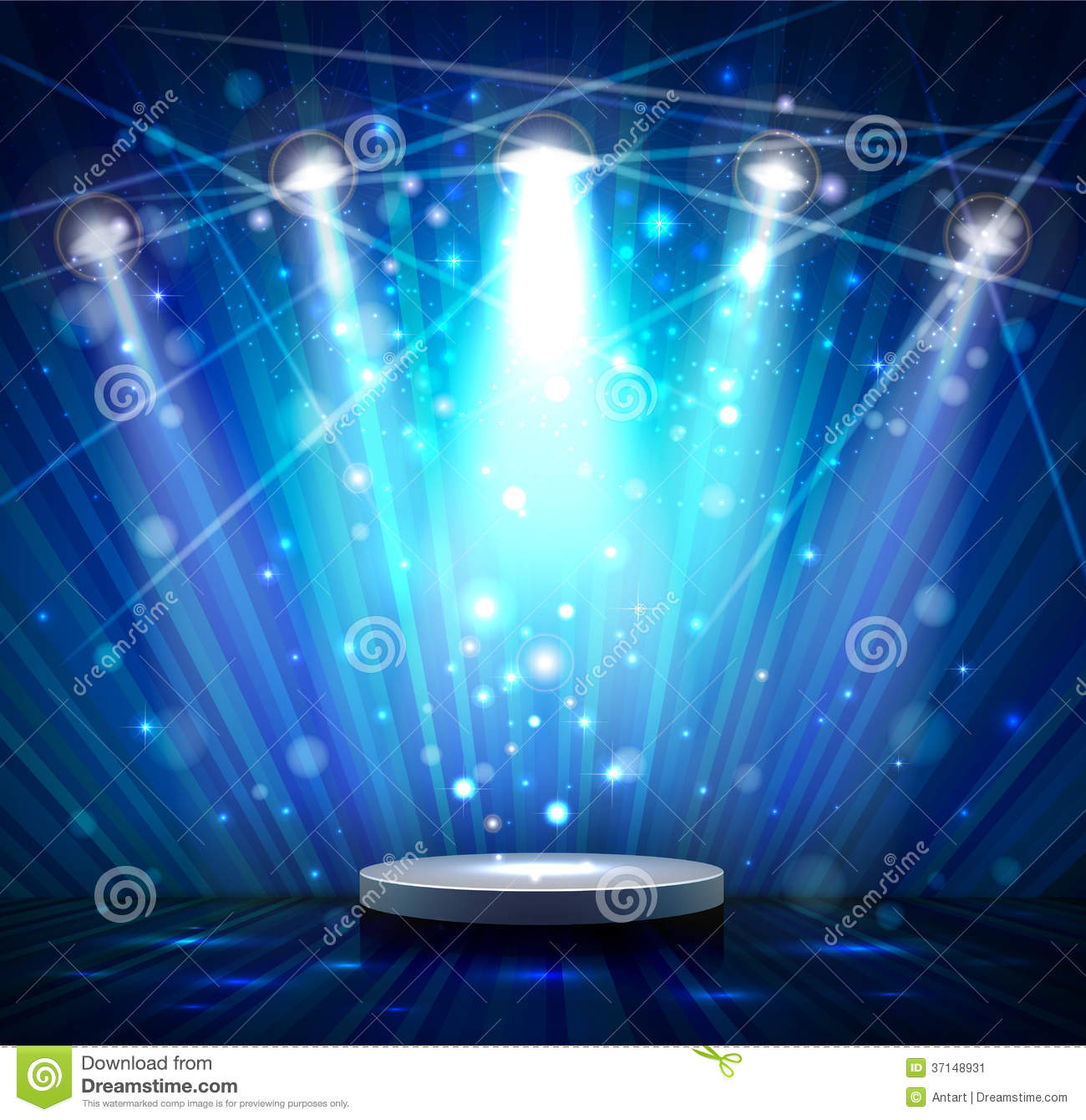 Blue stage stock vector. Illustration of entertainment - 37148931 for Spotlight Effect Stage Png  117dqh