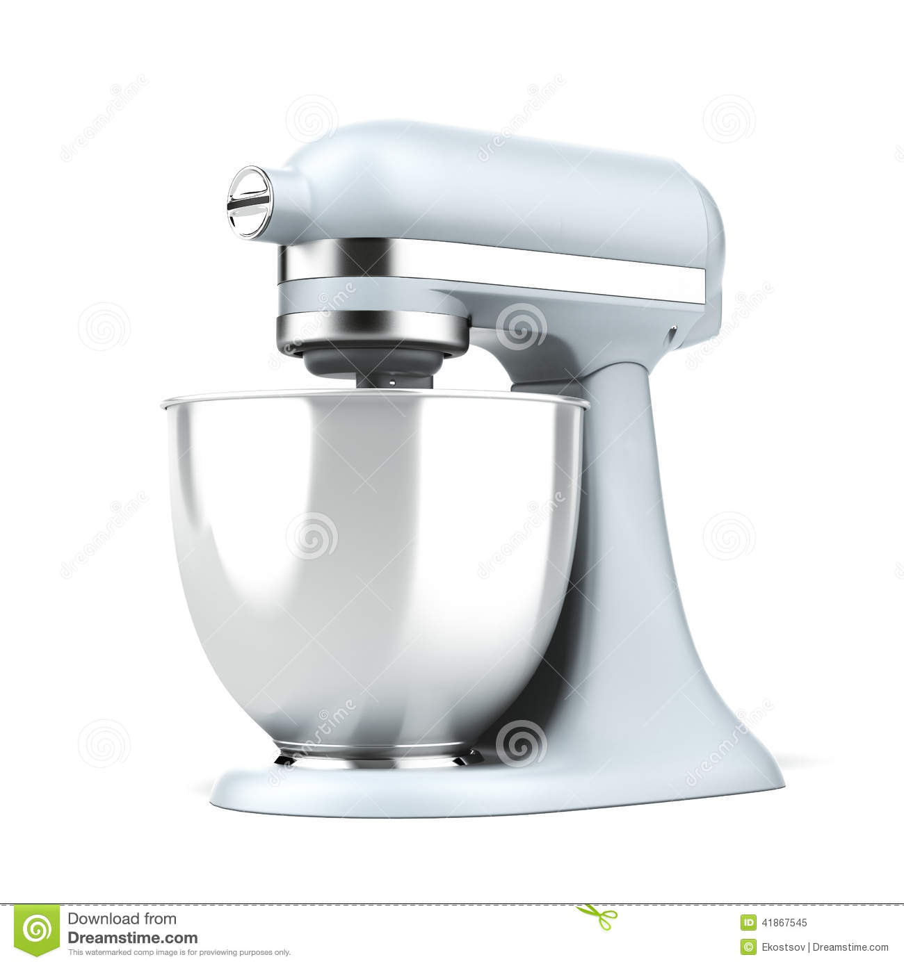 Modern Exhibition Stand Mixer : Blue stand mixer stock illustration image