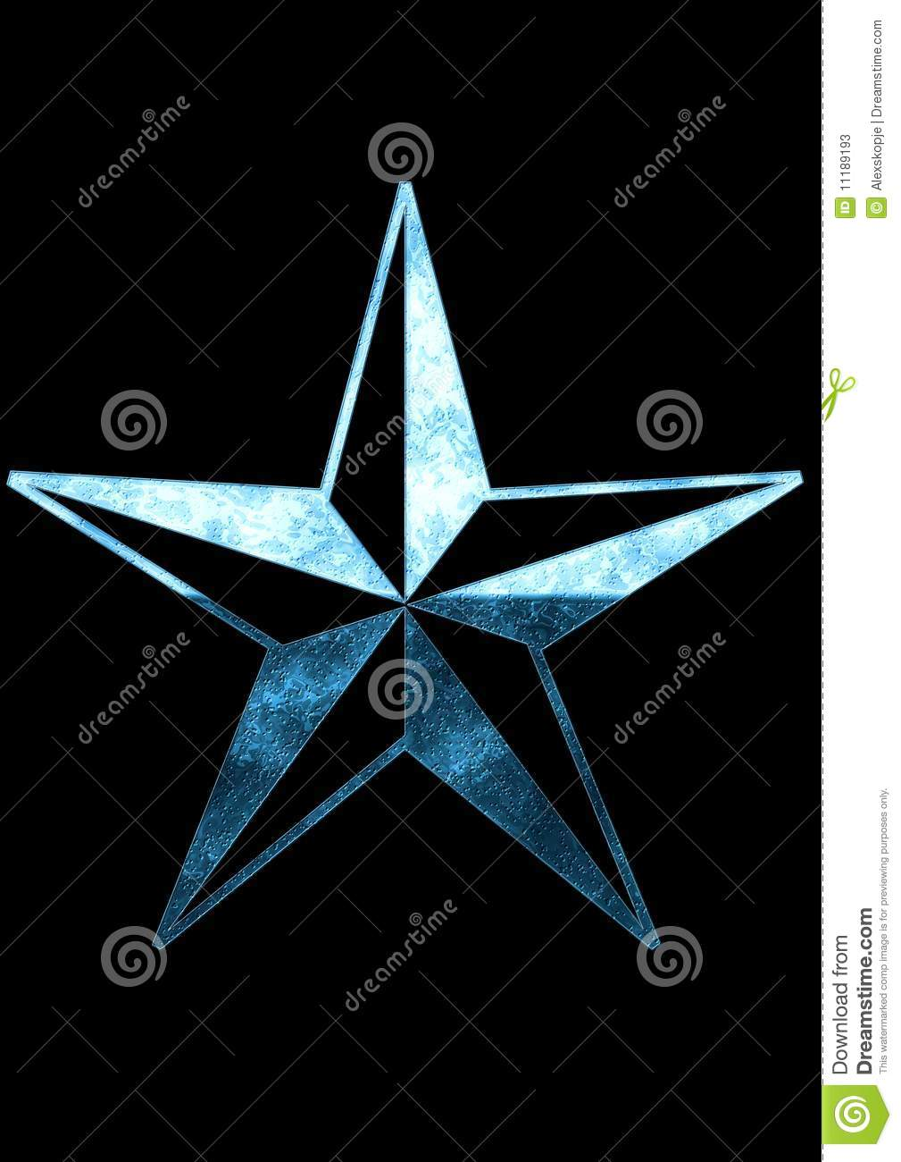 Black And Blue Stars Backgrounds Blue star on black background