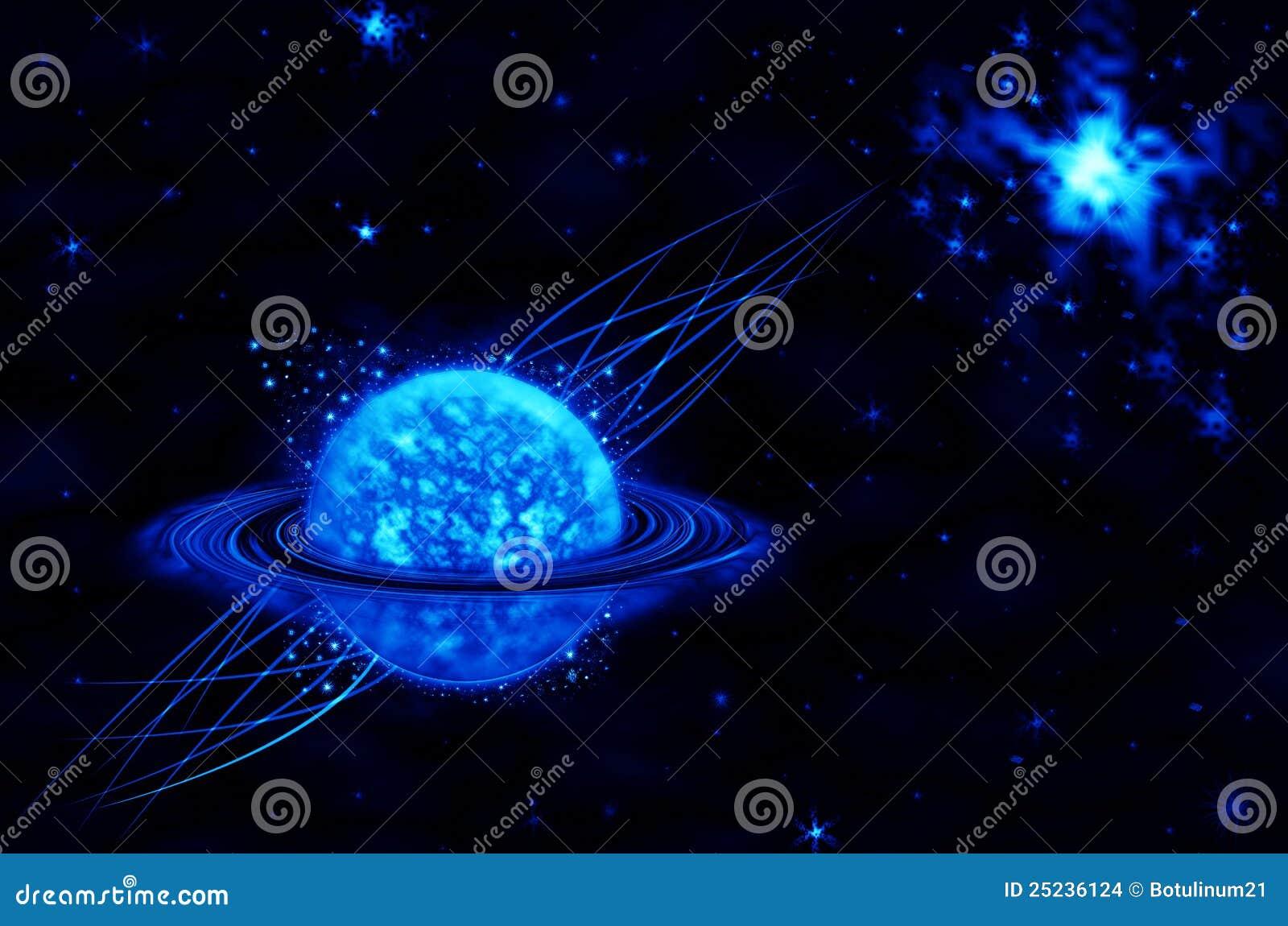 Blue Star On Black Background Stock Illustration - Image ...