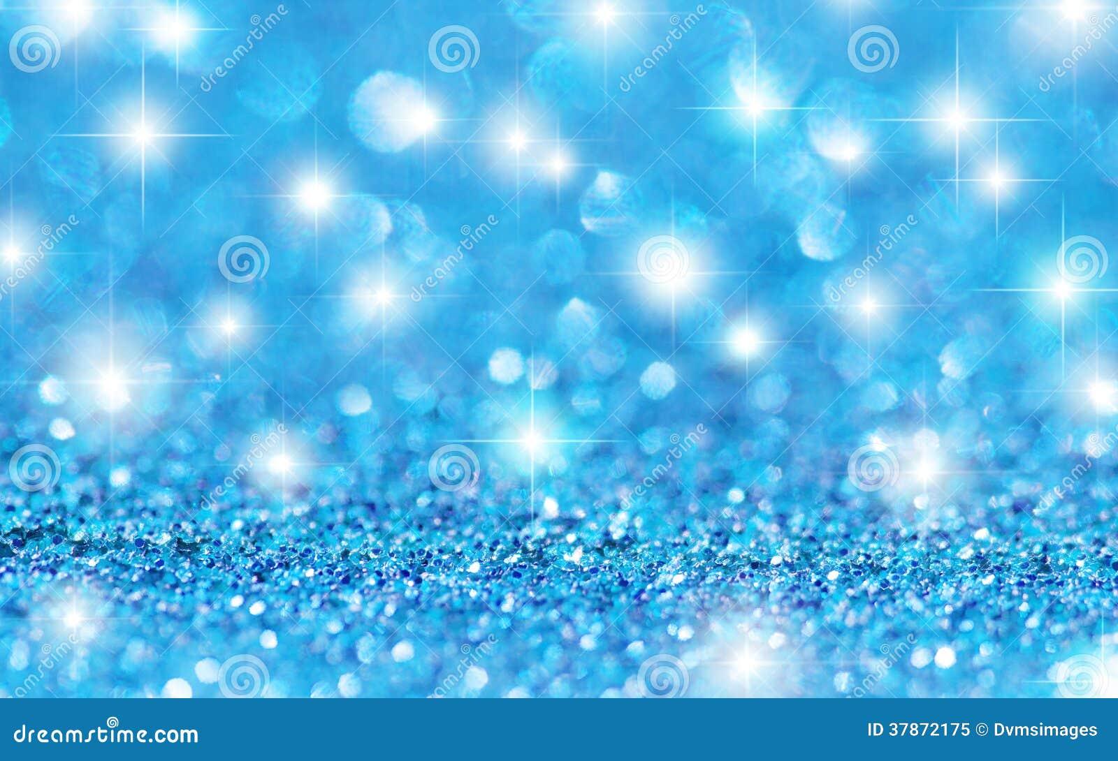 Blue Glitter Stars Background