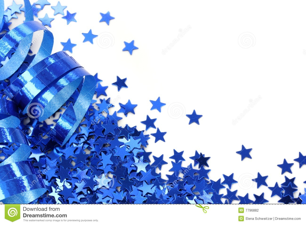Blue stars confetti stock photography image 7796882