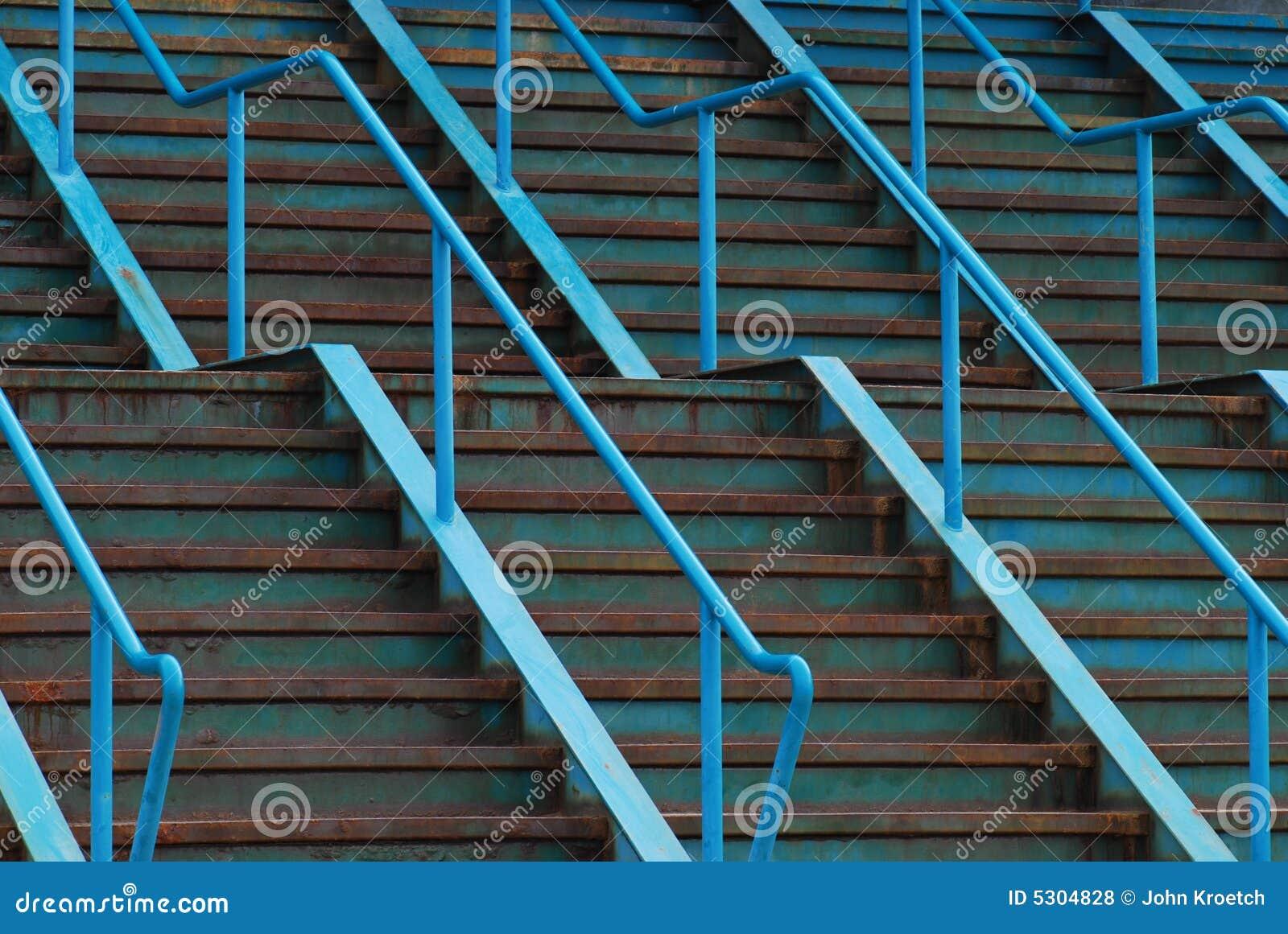 Blue Steel Stairs
