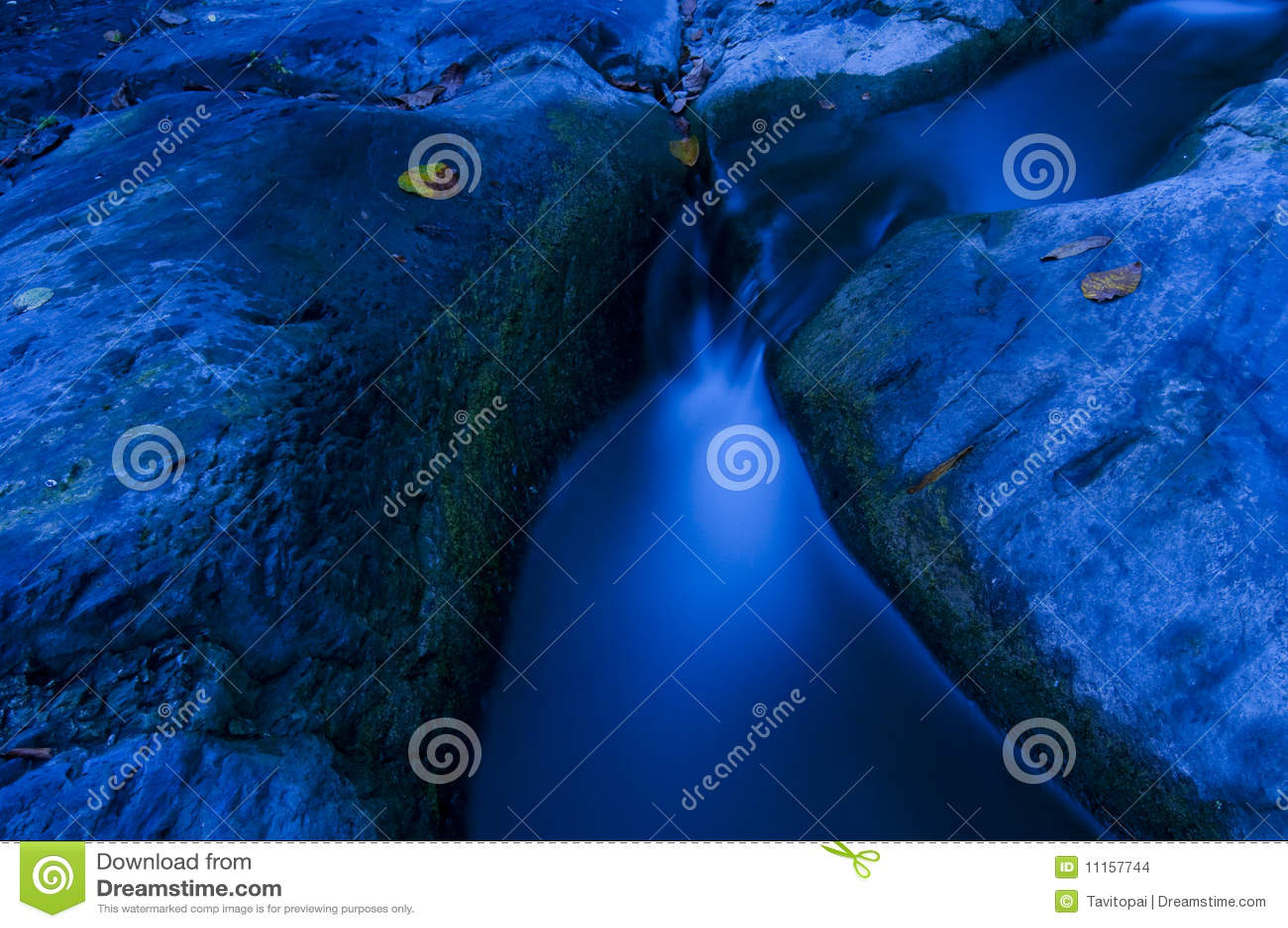 Blue stream landscape