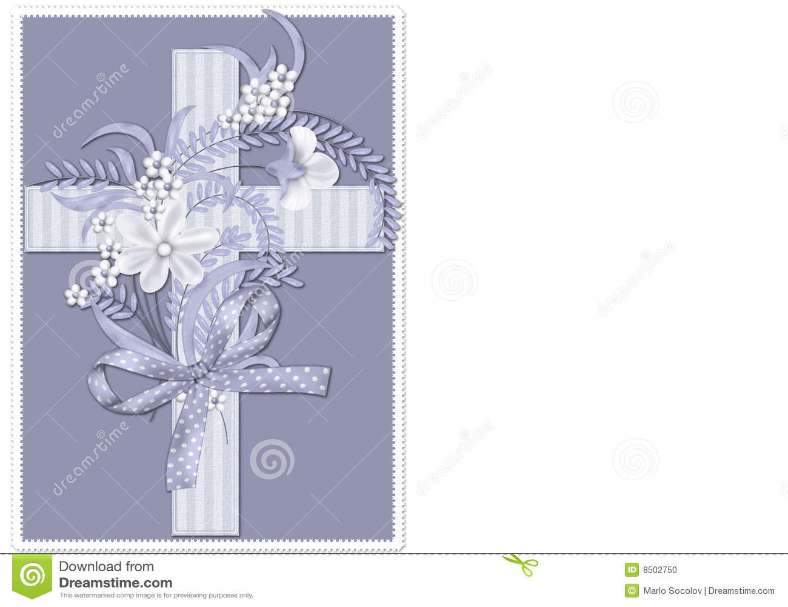 Blue Striped Christian Cross Background