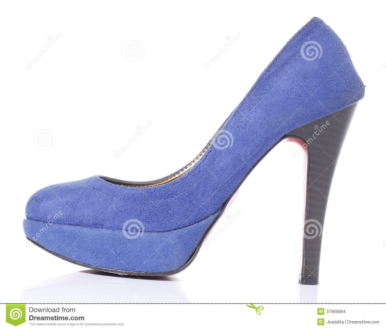 Blue Suede High Heel Shoes