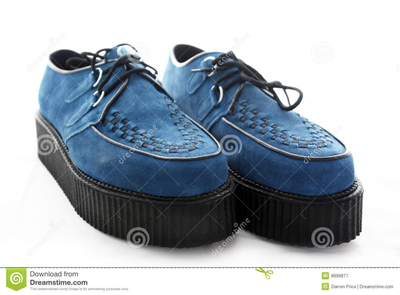 Mens Blue Suede Shoes Clipart