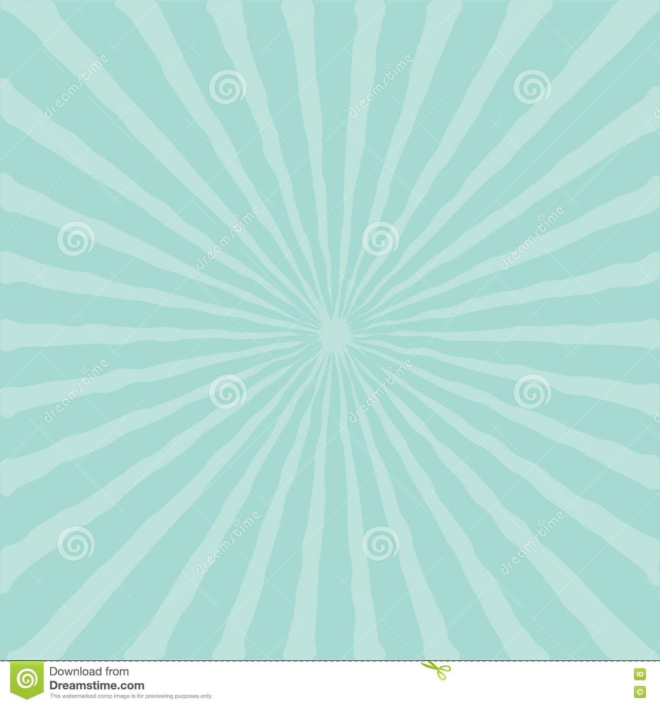Blue Sunburst Starburst With Ray Of Light. Template ...