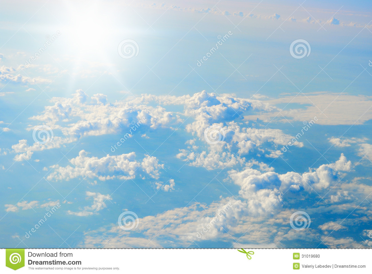 Blue Sunny Sky With Clouds Stock Photo - Image: 31019680