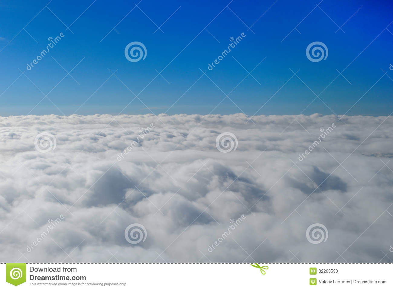 Blue Sunny Sky With Clouds Stock Photo - Image: 32263530