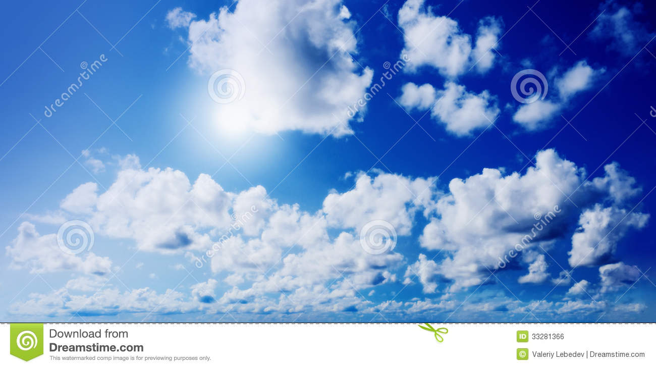 Blue Sunny Sky With Clouds Royalty Free Stock Image ...
