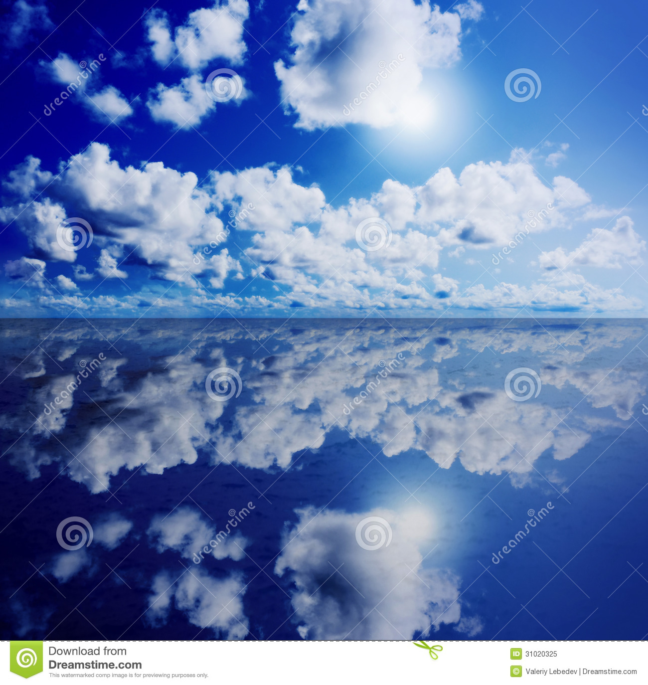 Blue Sunny Sky With Clouds Royalty Free Stock Photo ...