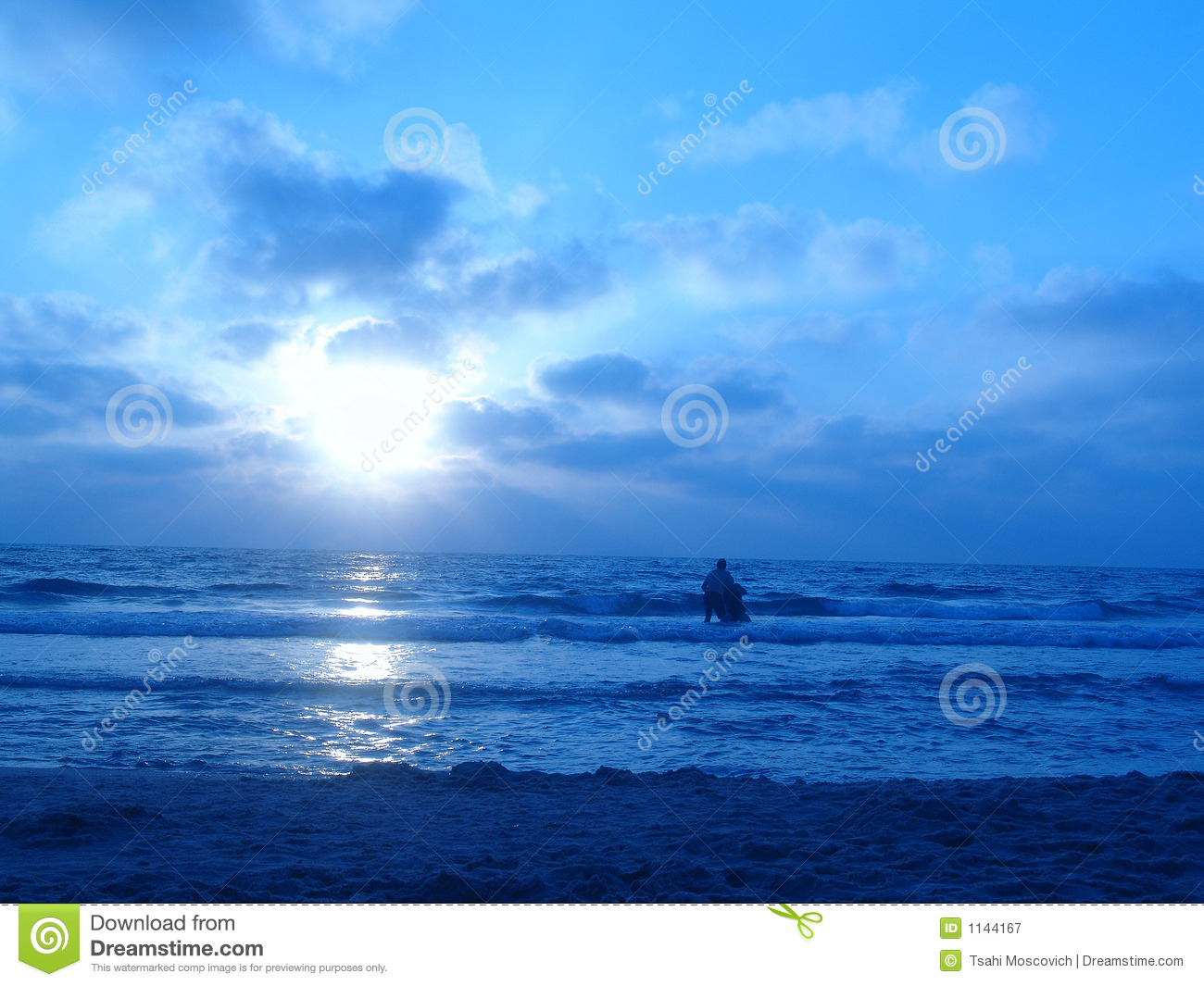 Blue Sunset Royalty Free Stock Photography - Image: 1144167