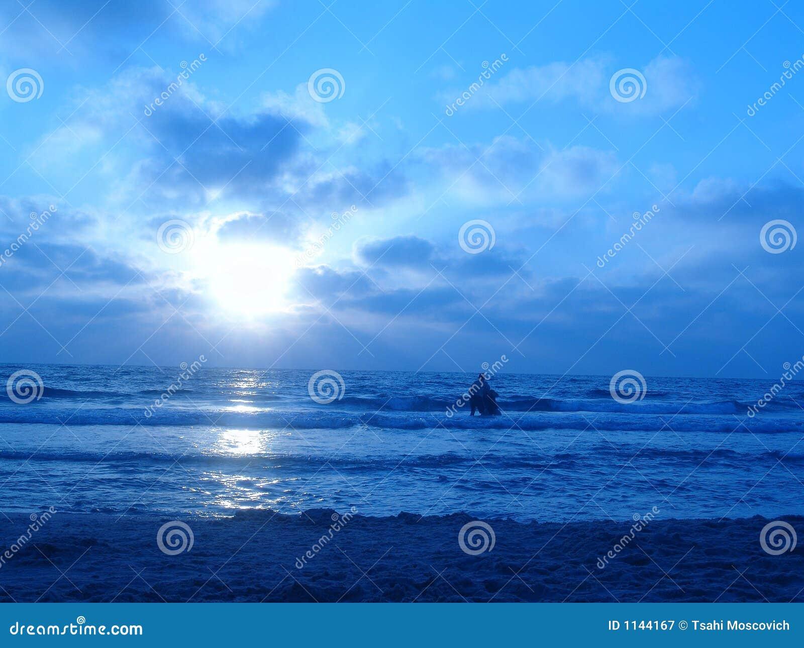 Blue Sunset Royalty Free Stock Photography - Image: 1144167