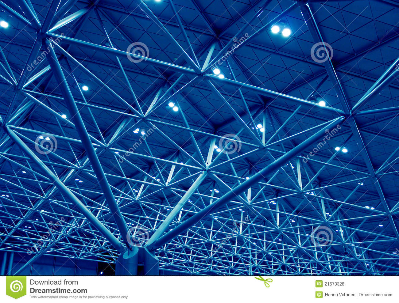 Blue Support Structure Stock Photo Image Of Terminal