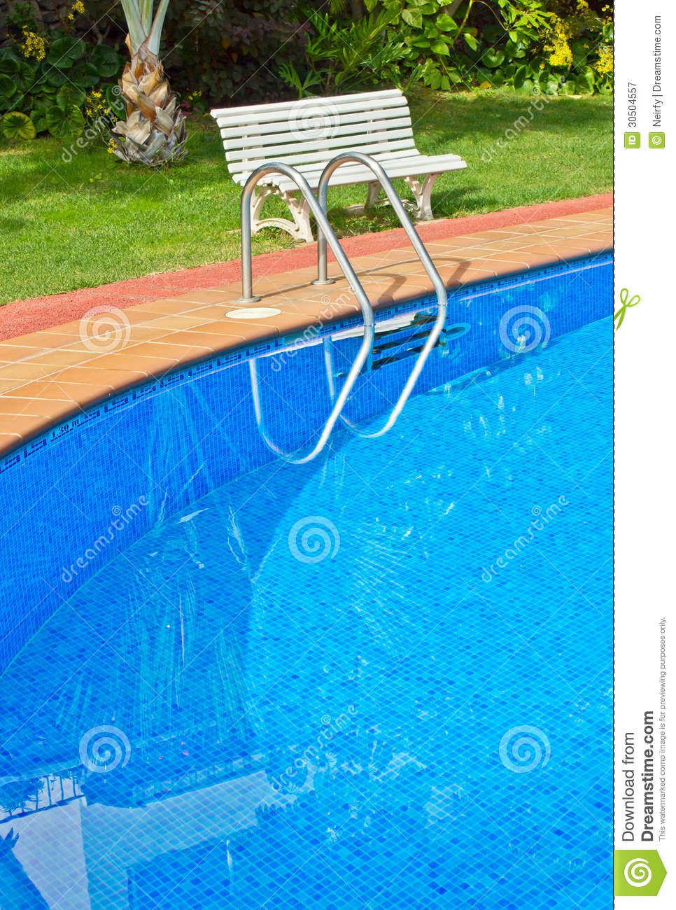 Blue Swimming Pool Close Up Royalty Free Stock Photography  Image