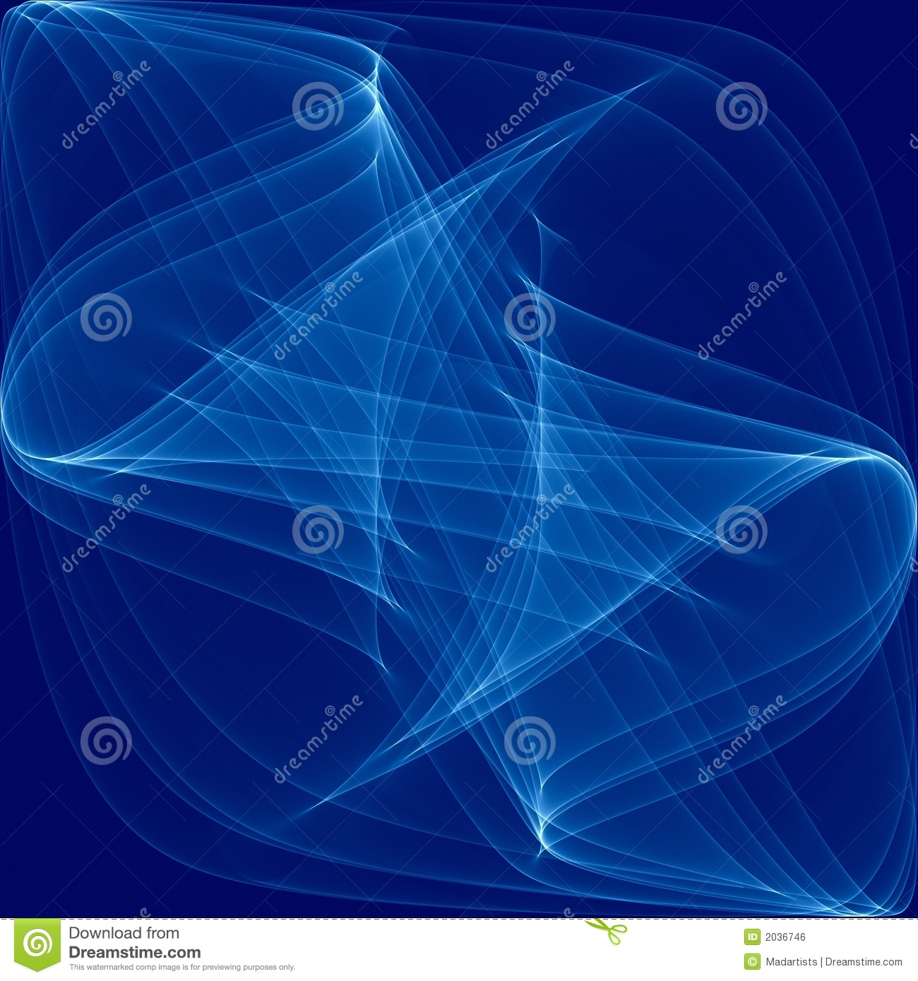 Blue Swirling Wavy Lines Glow Royalty Free Stock Image