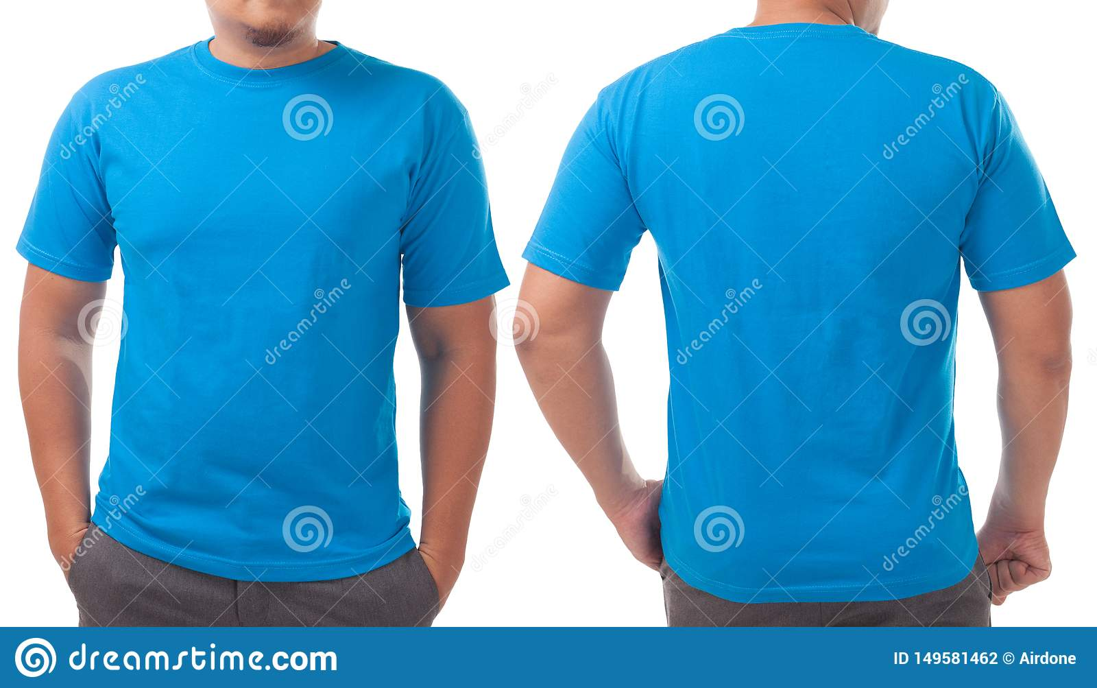 Blue Shirt Design Template Stock Photo Image Of Model 149581462