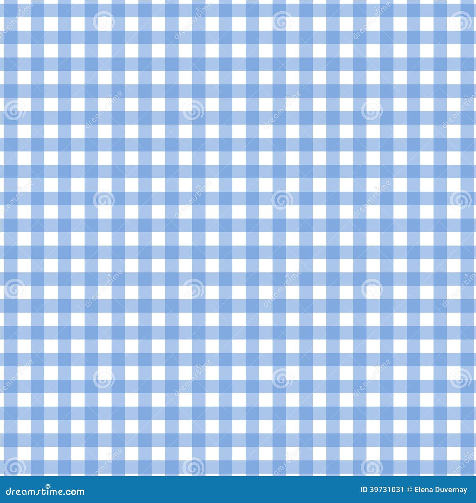 Blue Tablecloth Pattern Stock Illustration Image 39731031