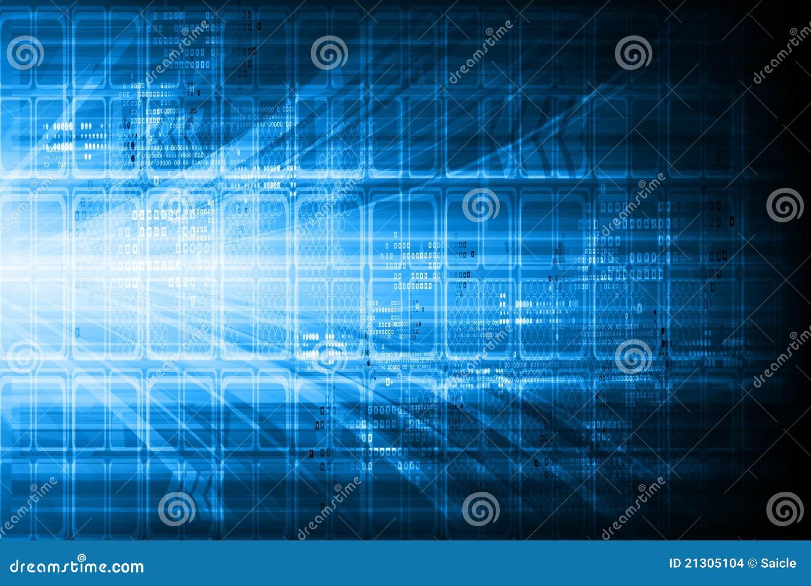Blue technical design