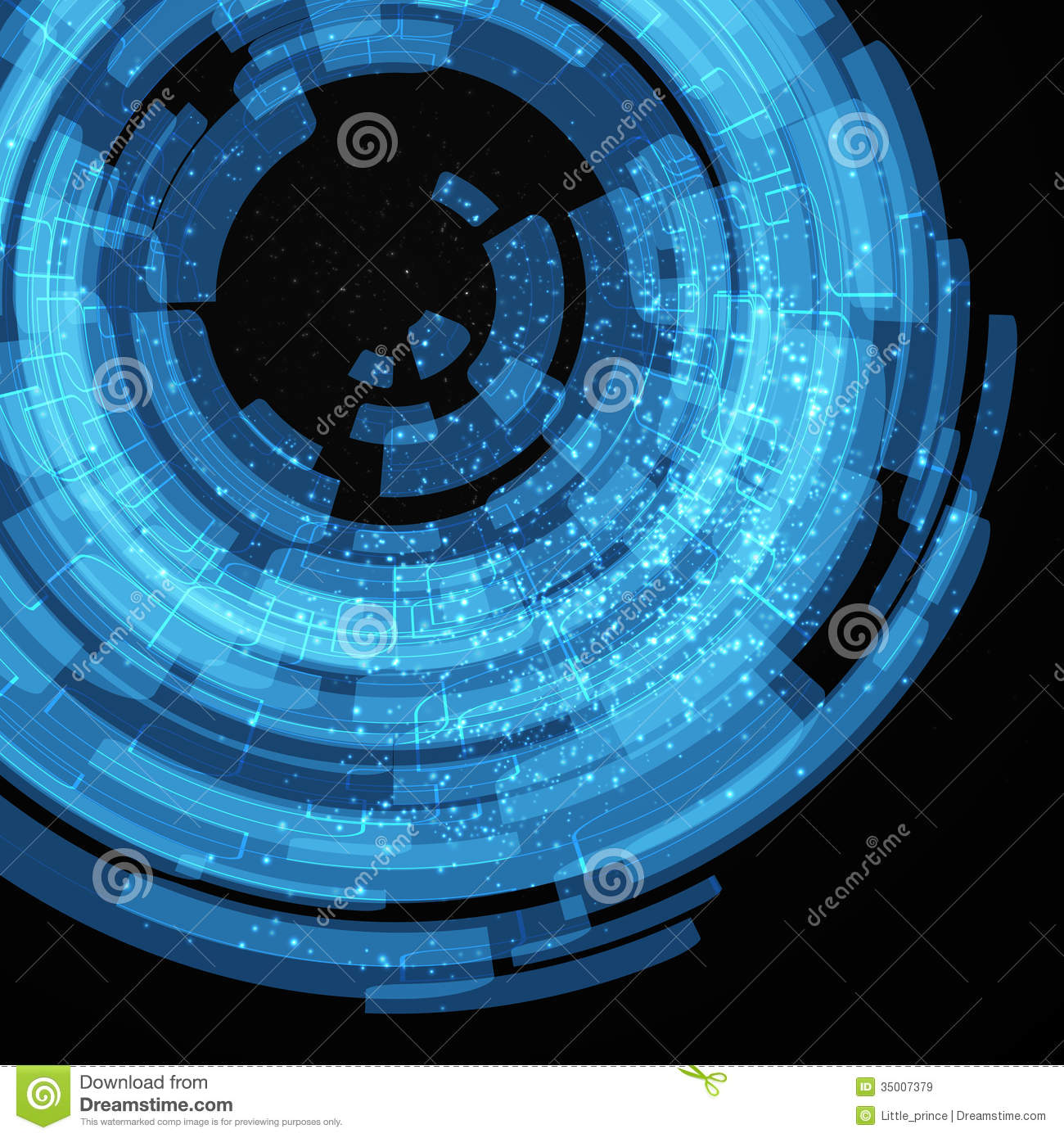Blue Technology: Blue And Black Technology Abstract Background Royalty Free
