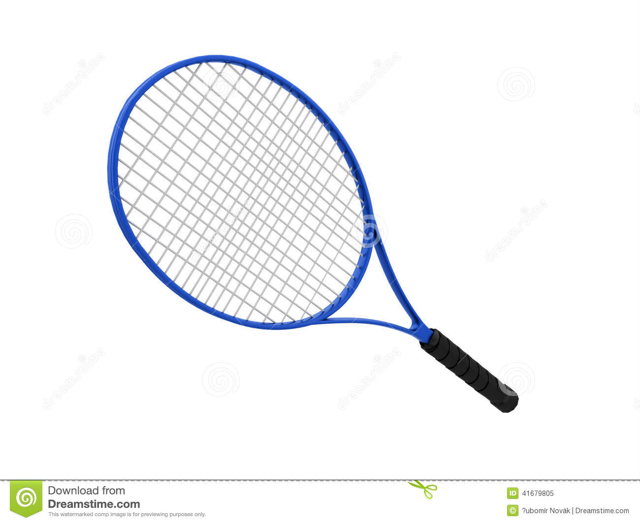 d8dbc88e2 Blue tennis racket isolated on white background. More similar stock  illustrations