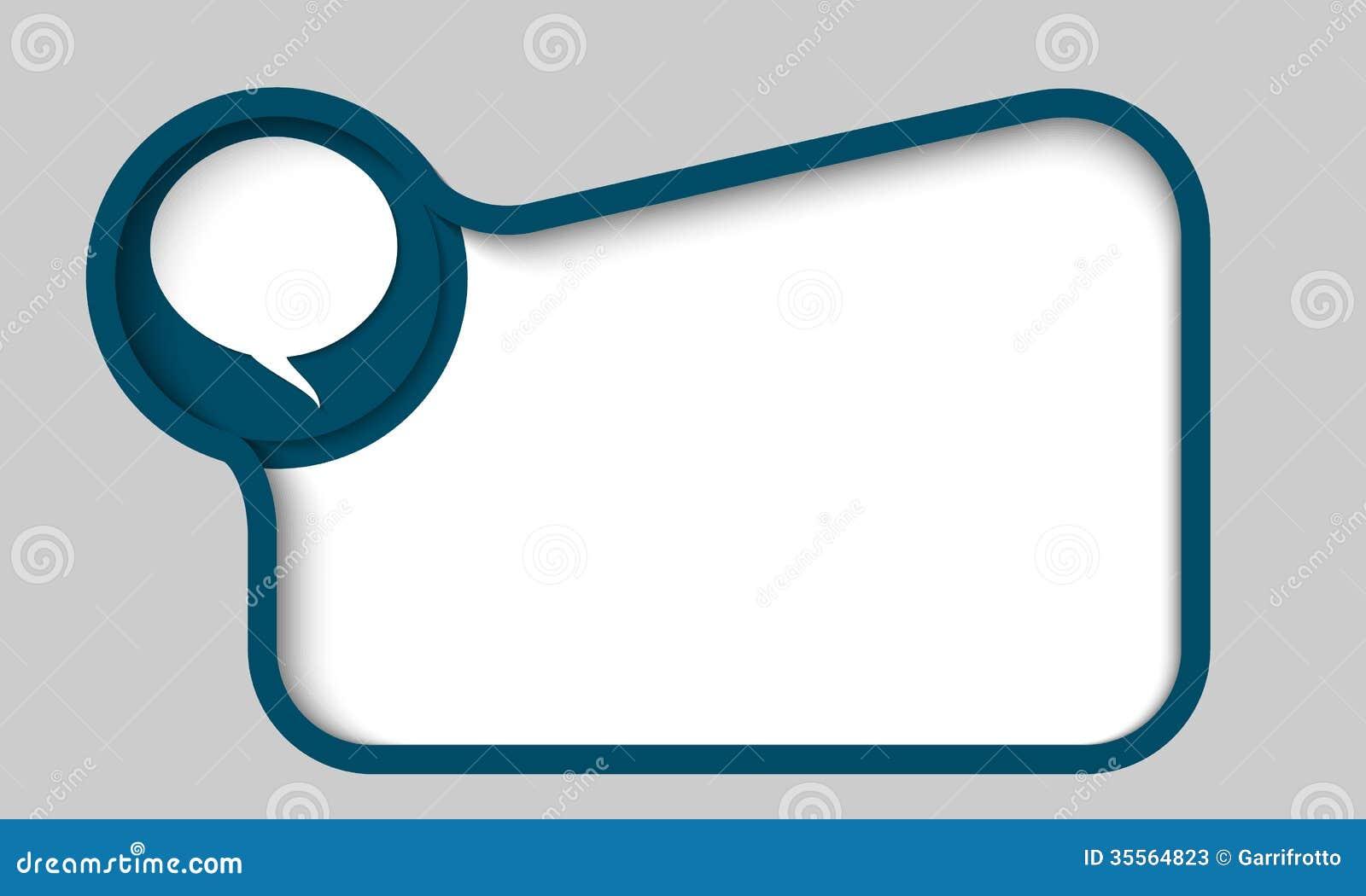 Stock Photos Blue Text Box Any Text Speech Bubble Dark Image35564823 on Dark Blue Border