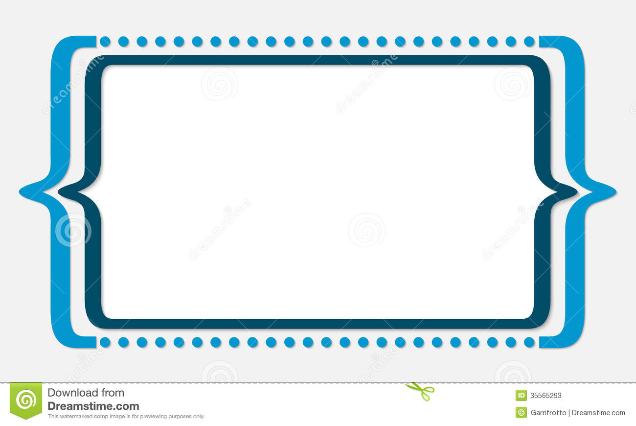 Blue Text Box Stock Vector Illustration Of Image
