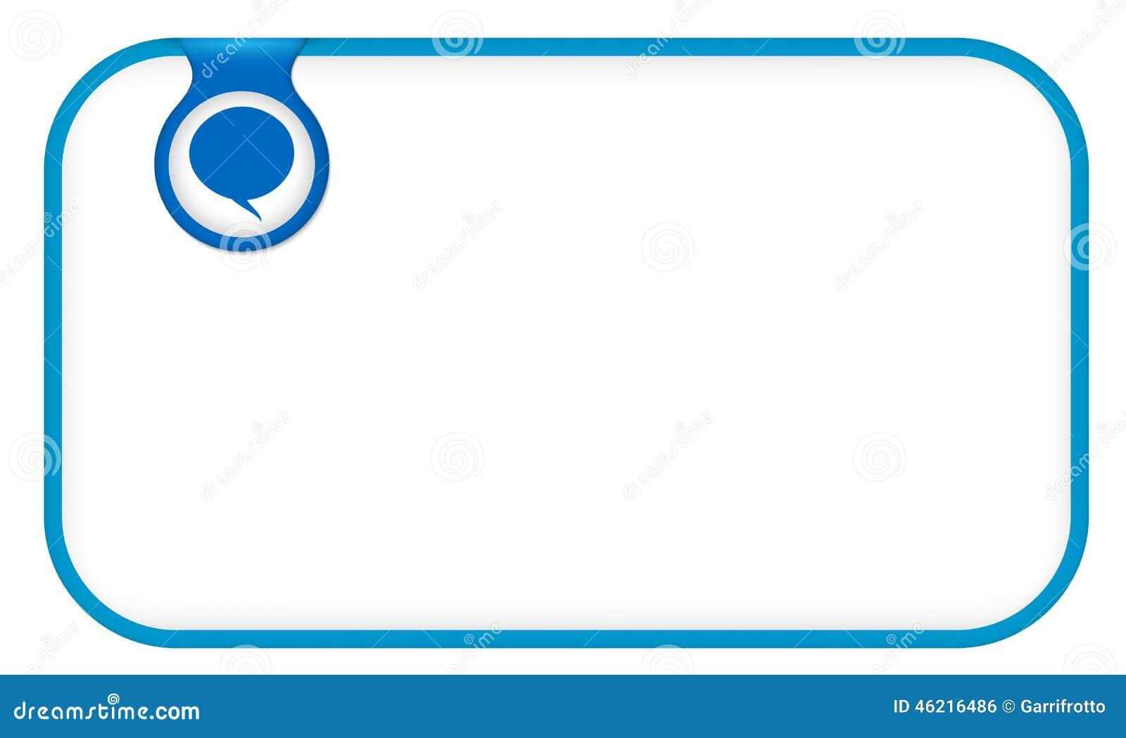Blue Text Frame Stock Vector. Illustration Of Backdrop