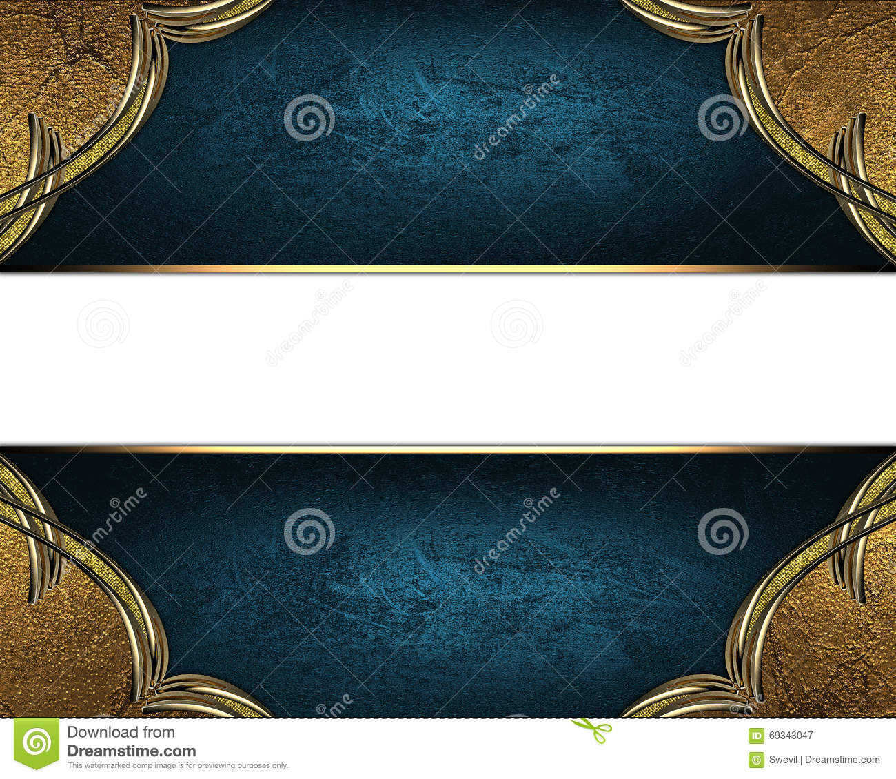 Nameplate Template | Blue Texture With Ornament And Blue Nameplate Template For Design